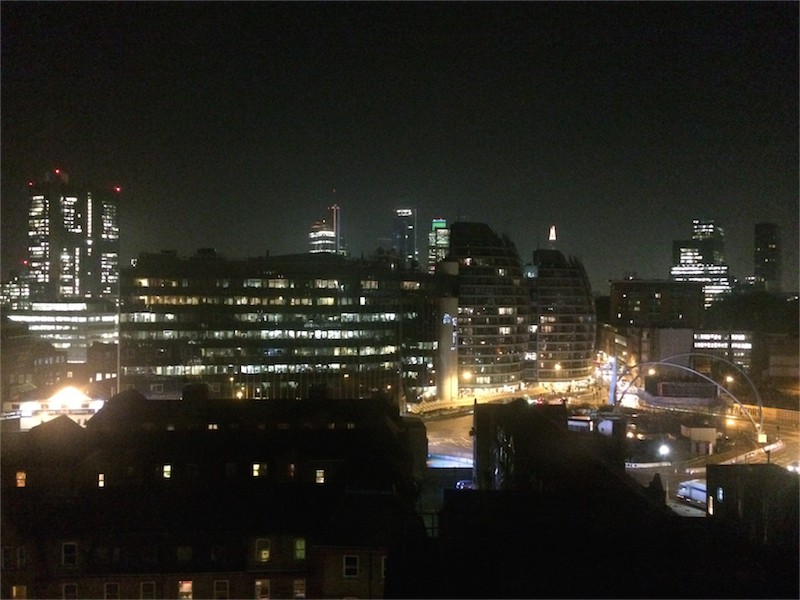 city of london, old street, at night time