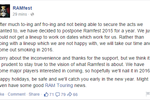 Ramfest 2015 CANCELLED