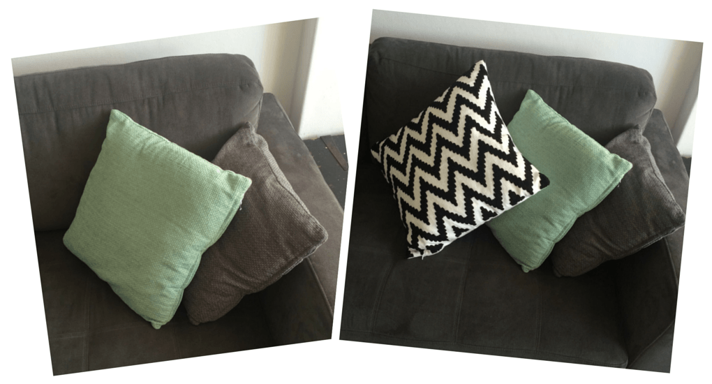 Pop of cushion colour