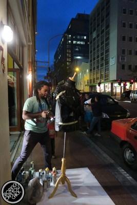 Spray painter in Long street