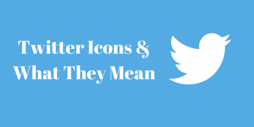 The meaning of Twitter icons