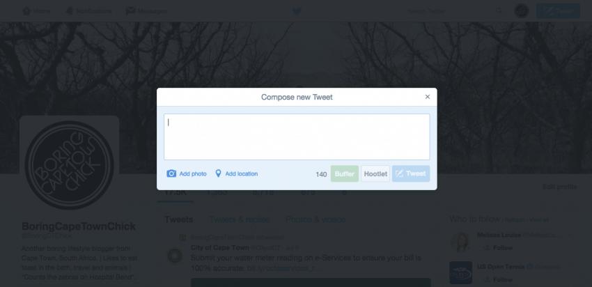 Tweet box