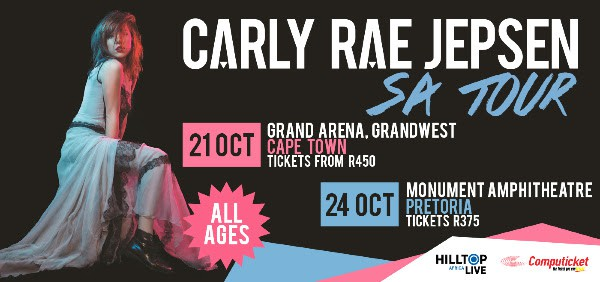 Carly Rae Jepson live in Cape Town