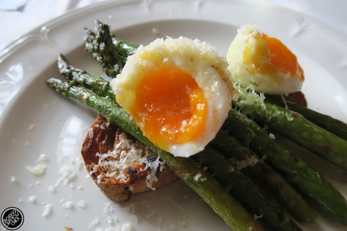 Asparagus dish at Society bistro