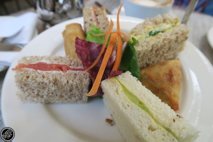 high tea sandwiches at the vineyard hotel