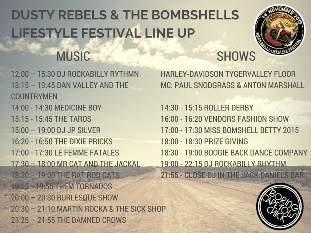 dusty rebels & the bombshells lifestyle festival line up