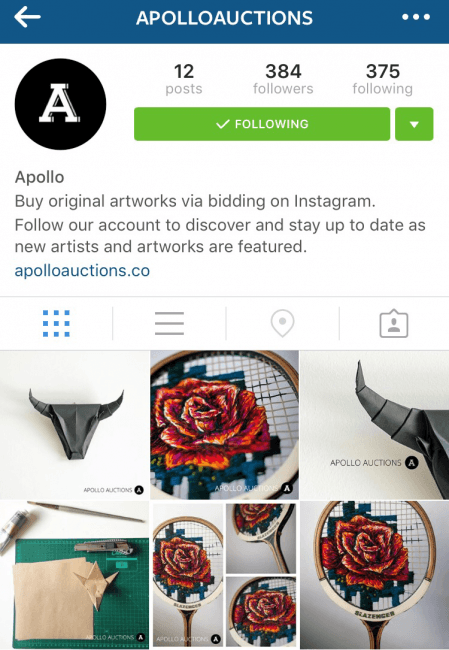 Apollo Instagram artists platform