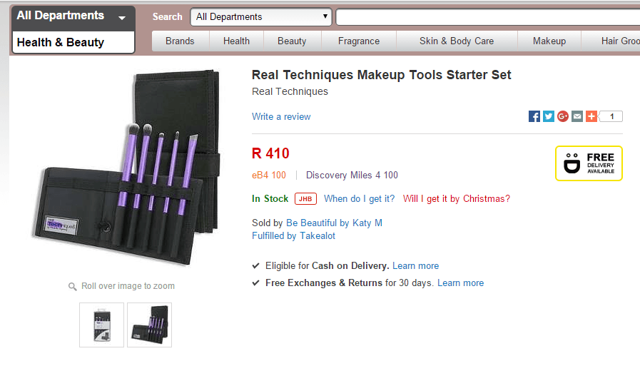 Real Technique Brushes on TakeaLot